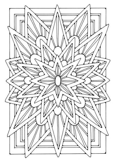 star mandala coloring pages mandala star coloring pages for grown ups pinterest