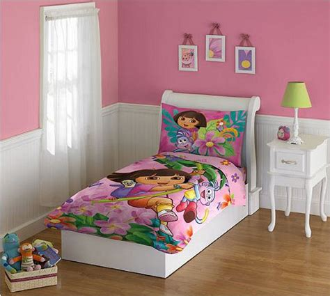 dora toddler bed set dora the explorer jungle fun toddler bedding set bedding