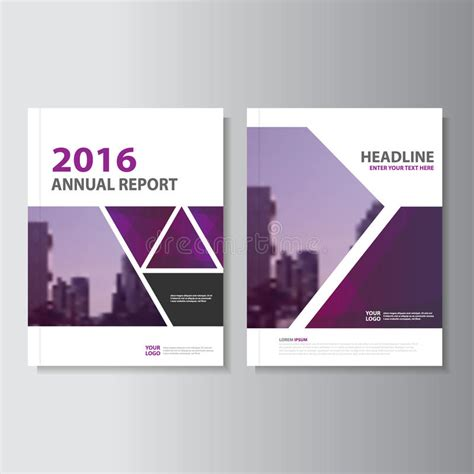 book cover design and layout triangle purple annual report leaflet brochure flyer