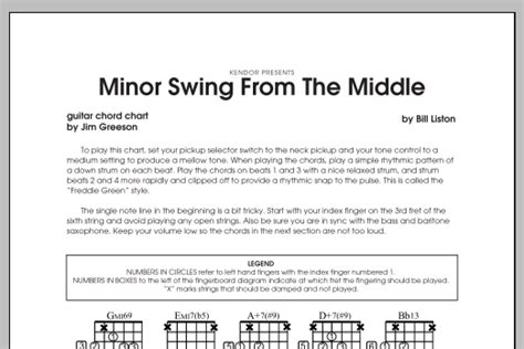 minor swing ukulele minor swing from the middle guitar sheet at