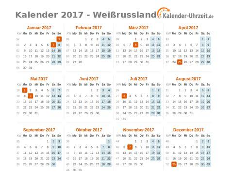 Kalender Mit Kw Und Feiertagen Feiertage 2017 Wei 223 Russland Kalender 220 Bersicht