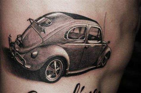 vw beetle tattoo designs a car of a vw volkswagen beetle from the 1960s