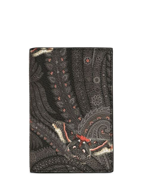 Print Faux Leather Card Holder lyst givenchy paisley print faux leather card holder in