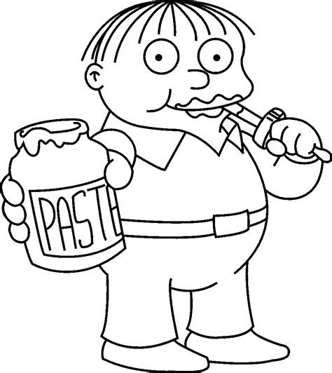 Free Coloring Pages Of The Simpsons Simpsons Coloring Pages