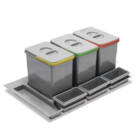 trennsystem f 252 r schubladen mit 3x15l sammler und 3 - Schubladen Trennsystem