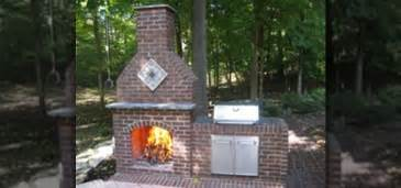 Outdoor Brick Fireplace How To Build An Outdoor Brick Fireplace 171 Construction