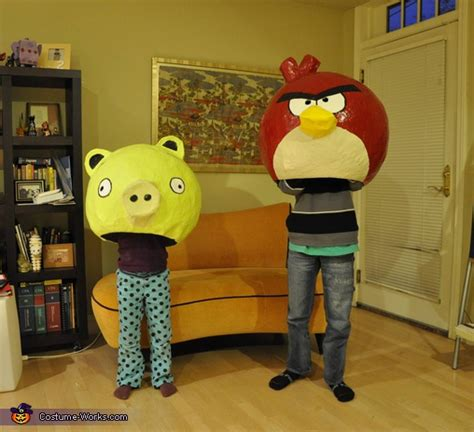 How To Make A Mascot From Paper Mache - angry birds costumes of paper mache