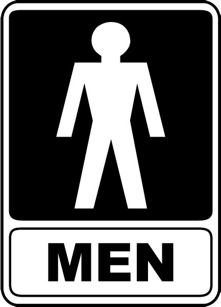 men bathroom sign men restroom sign f4915 by safetysign com