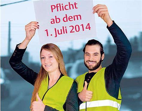 Warndreieck Motorrad Pflicht Deutschland by Marl Aktuell Sonntagsblatt Im Vest 187 Warnwesten Werden Pflicht