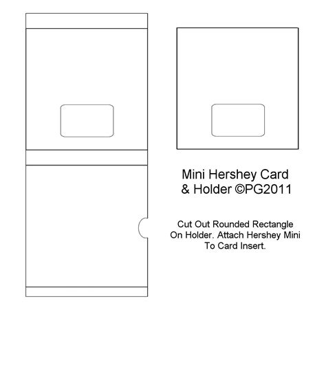 Mini Card Templates by Hershey Bar Mini Card Template I Made Paper Craft