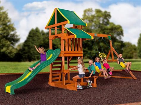 wooden backyard playsets swing sets for backyard outdoor playsets children kit kids