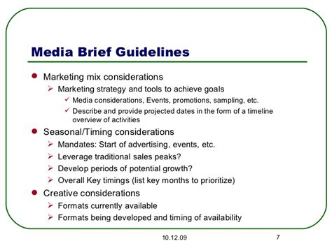 Social Media Briefformat Media Brief And Strategy Checklist