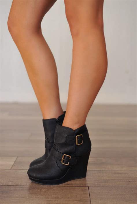 dottie couture boutique leatherette wedge bootie 39 00