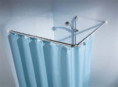 angled shower curtain rod kleine wolke shower curtain angled rod 216 25mm clevershower