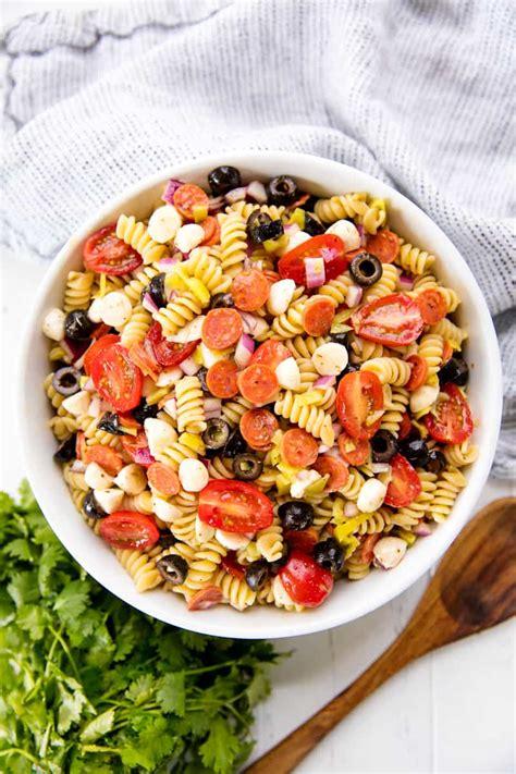 classic italian pasta salad  homemade italian dressing