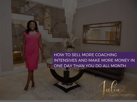 Make Money In One Day Online - how to sell more coaching intensives and make more money in one day than you do all