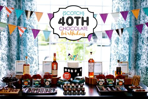 40th Bday Decorations by Scotch Chocolate 40th Birthday Hostess With The