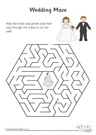 printable wedding maze wedding mazes