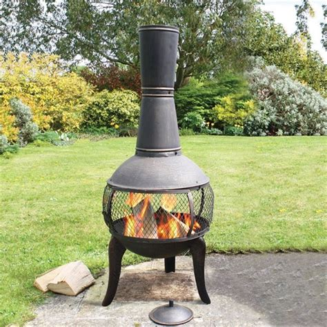 Chiminea Landscape Ideas by Chiminea Patio Fireplace Ideas To Stay Warm In The Outside