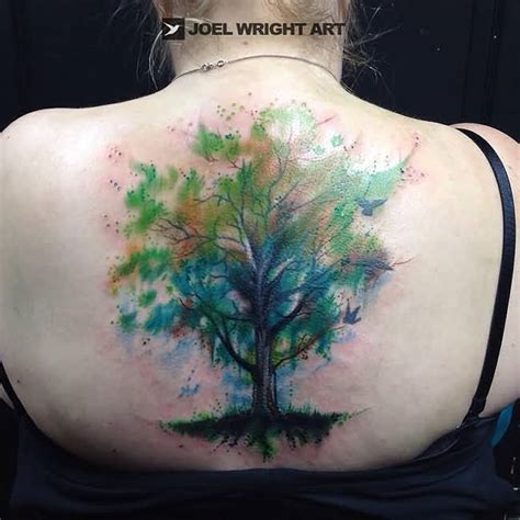 watercolor tattoo life 45 colorful tree of tattoos