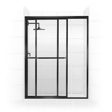 Glass Sliding Shower Door Coastal Shower Doors Paragon Series 44 In X 66 In Framed Sliding Shower Door With Towel Bar In