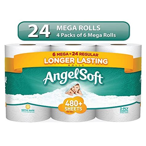 buy angel soft toilet paper bath tissue  mega rolls special discount   shipping