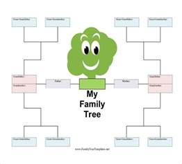 Tree Templates by Simple Family Tree Template 18 Free Word Excel Pdf