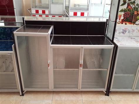 jual lemari dapur tempat kompor kode d001 glossy