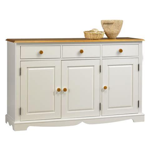 buffet blanc et miel 3 portes 3 tiroirs beaux meubles