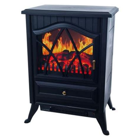 warm house retro 15 in electric fireplace in black 80