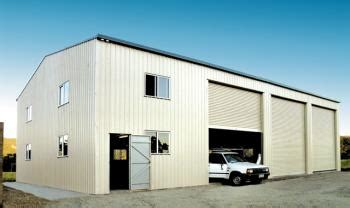 Garages And Barns industrial building with large openings fair dinkum sheds