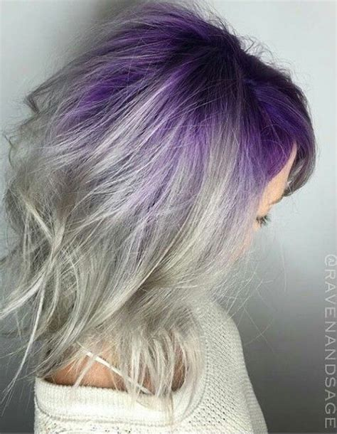 purple grey purple gray ombre hair www imgkid the image kid