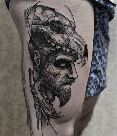 wolf skull tattoo skull www pixshark images
