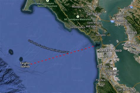 san francisco islands map captain curran s sailing boating to the farallon