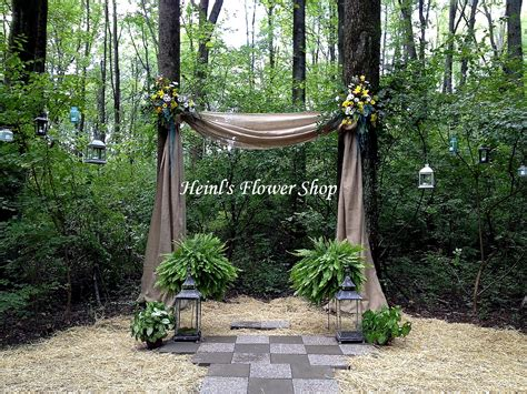 Backyard Wedding Arch Outdoor Wedding Arch Or Burlap With Flowers And Boston