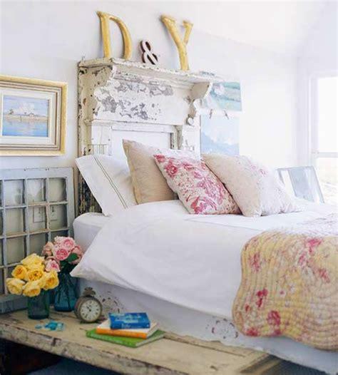 Blue Bedroom Decorating Ideas Cozy Vintage Headboard Style
