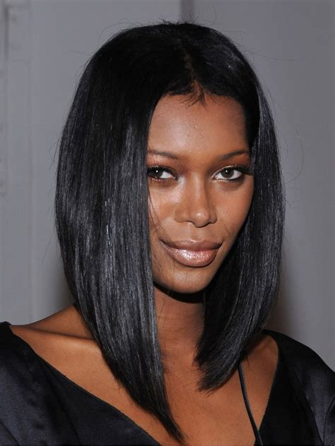 straight bob with a part in the middle 1 jet black silky straight middle part bob lace front wig