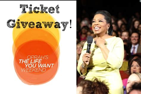 Oprah Winfrey Giveaway - oprah the life you want weekend ticket giveaway detroit mommies detroit mommies