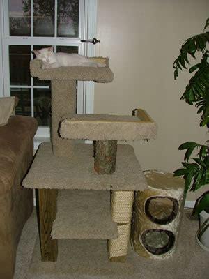 wood cat tree plans   blueprints  diy    build