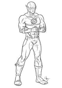 flash coloring pages flash coloring pages