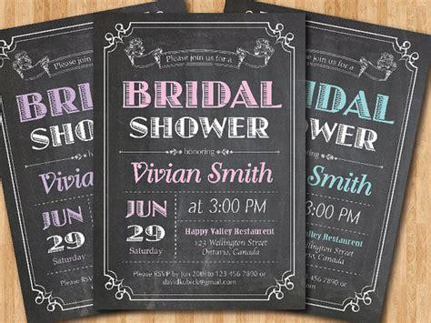 diy chalkboard bridal shower invitations chalkboard bridal shower invitation wedding shower pink