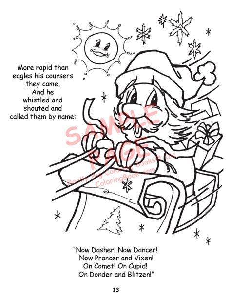 Twas The Before Coloring Pages Coloring Books Twas The Night Before Christmas Power Panel by Twas The Before Coloring Pages