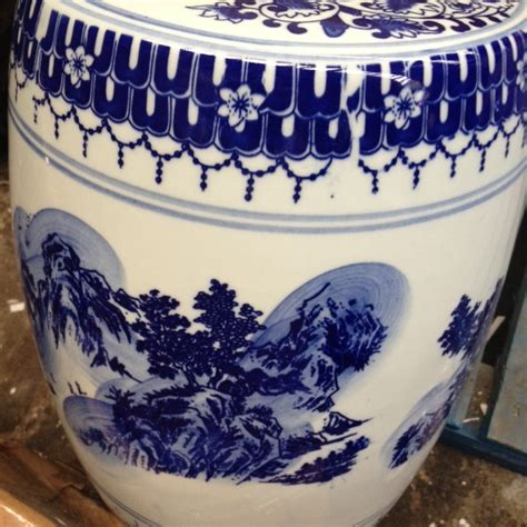 Blue White Porcelain Garden Stool by Blue And White Porcelain Garden Stool