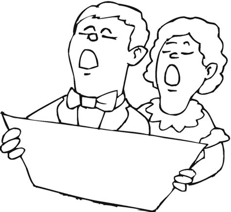 coloring page christmas carolers christmas carolers coloring pages
