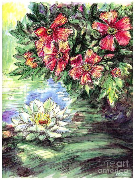Gorden Lotus lotus flower paintings painting by gordon punt