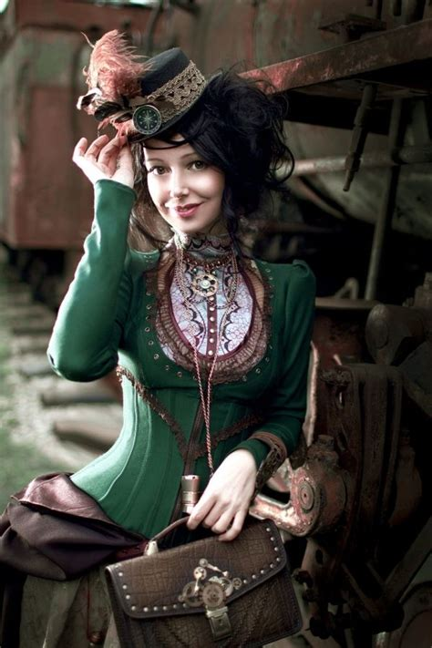 Steam Punk Style by Steampunk Victorian Dressed Lady Taking The Equal Of The