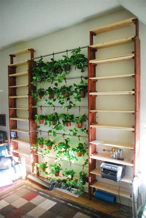 diy indoor garden diy quot stack able bookshelves quot and hanging indoor garden