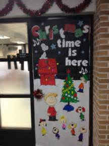 charlie brown christmas door took a while but i love it