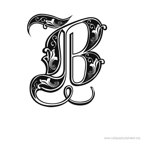 Letter Calligraphy calligraphy alphabet fonts calligraphy alphabet b