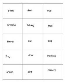 Cards printable free charades words list for kids free phrases car